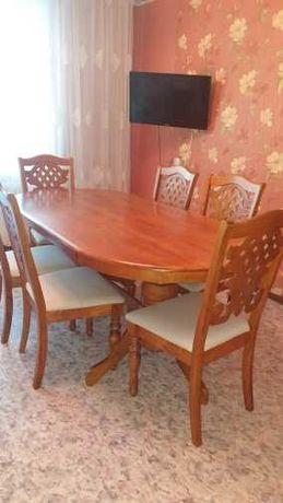 Стол и 6 мягких стульев пр-ва Малайзия