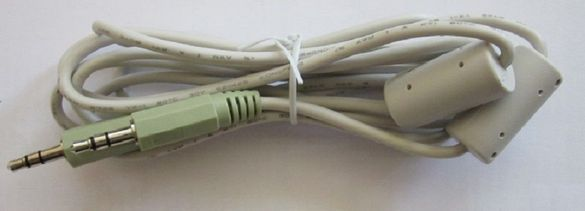 Аудио кабел 3.5 мм жак - жак (с ферити)