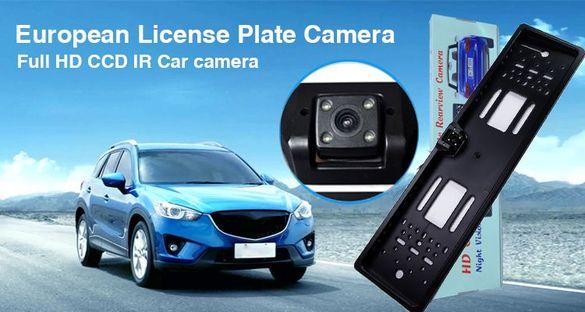 Паркинг сензор +камера с рамка за регистрационен номер.