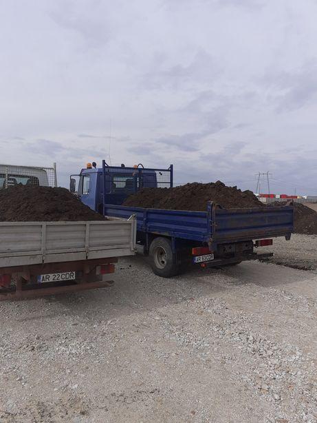 Pământ negru,nisip,piatra,moloz,balast