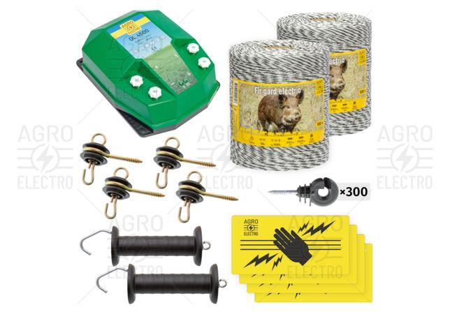 Pachet de bază gard electric 2000 m, 4,5 J, pentru animale sălbatice
