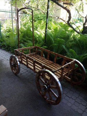 Телега из дерева, декор для сада, арба, бричка