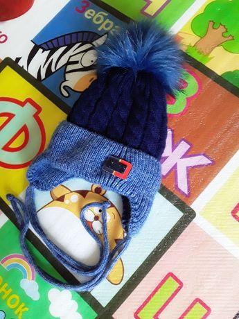 Новая зимняя шапка детская