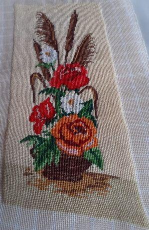 Goblen Ikebana cu trandafiri