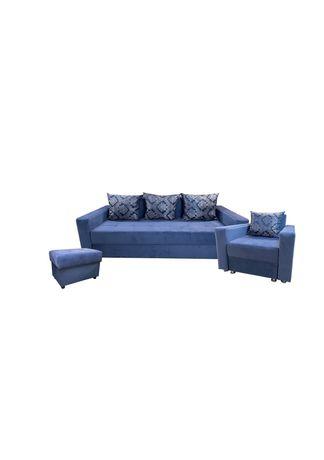 Диван, кресло-кровать, пуфик