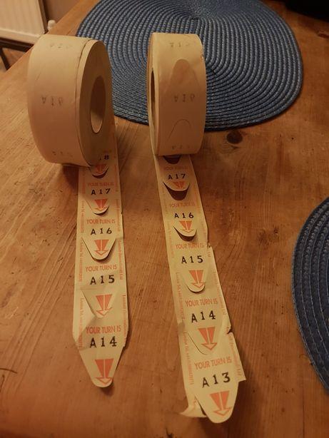 Tichete cu numere/ tichete de tombola