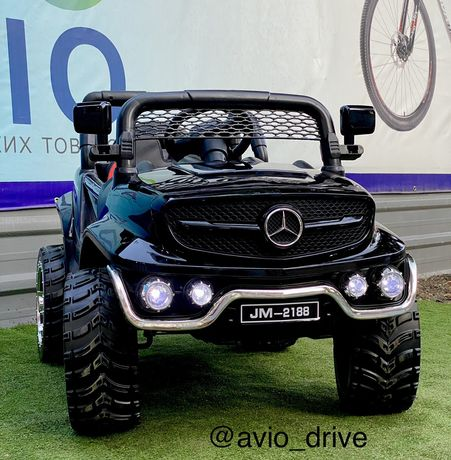 Детский электромобиль багги Mersedes benz гельвый колеса кожа сиденье