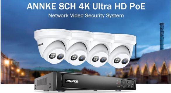 NVR Система за Видеонаблюдение ANNKE 4K, 8MP EXIR Камери