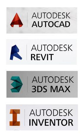Установка AutoCad, 3ds max, Autodesk Revit с выездом Автокад Windows