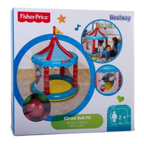 Надувной бассейн Центр игровой Fisher Price Цирк с шариками 25штук
