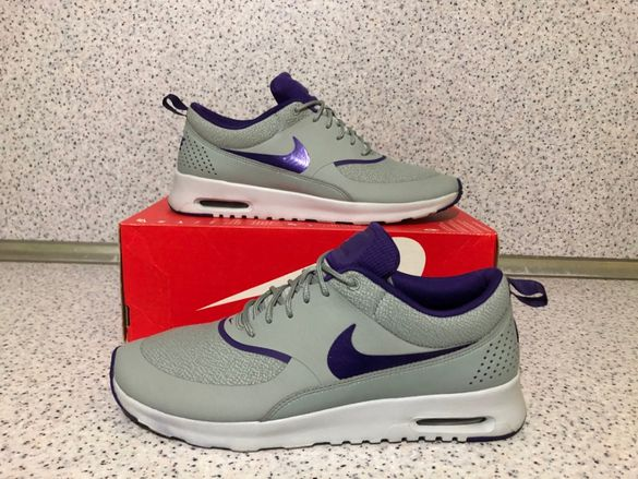 ОРИГИНАЛНИ *** Nike Air Max Thea Premium / Silver Wing/Court Purple
