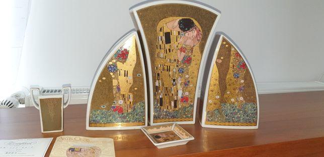 Gustav Klimt Der Kuss set vaze porțelan Artis Orbis Goebel Germany