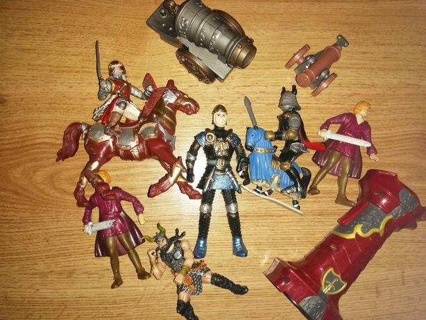 Jucării cavaleri+accesorii