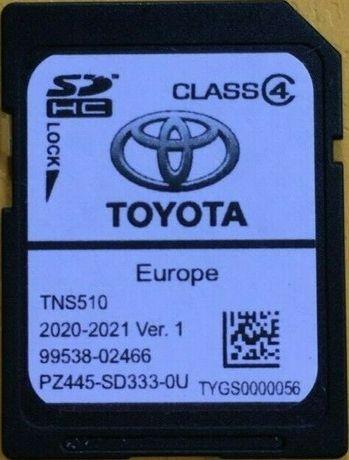 2020-2021 V1 Toyota Навигационна SD card TNS510 Europe Сд Карта Тойота