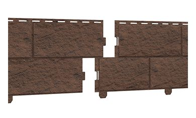 сайдинг (STONE HOUSE Кирпич) коричневый, Фасадные панели,