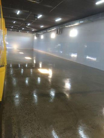Беспыльные полы для автомоек паркингов ангаров
