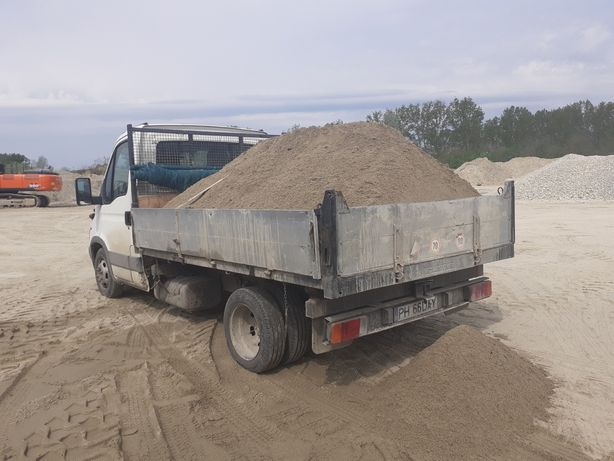 Aduc la comanda orice sort de balastiera:nisip,balastru,piatra,
