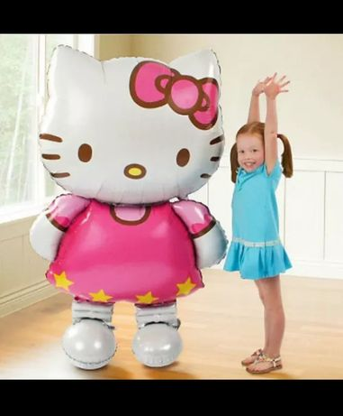 Balon Hello Kitty folie aluminiu petreceri 93cm×52 cm