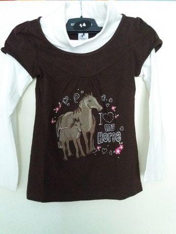 Bluza maro cu cai C&A