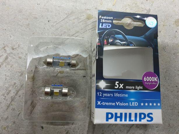 Philips c5w 38mm și 43mm 6000k