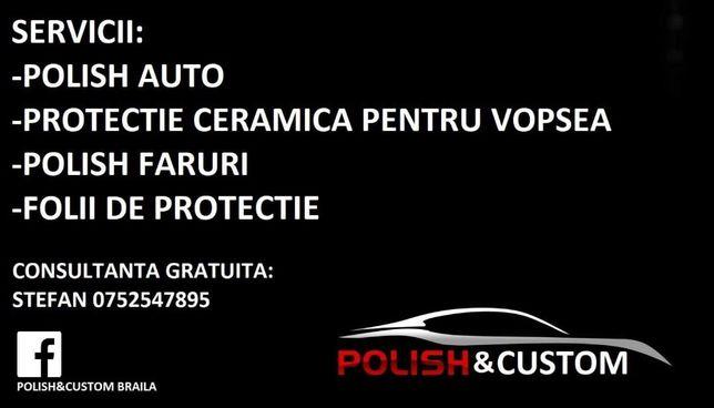 Polish faruri si folie de protectie transparenta