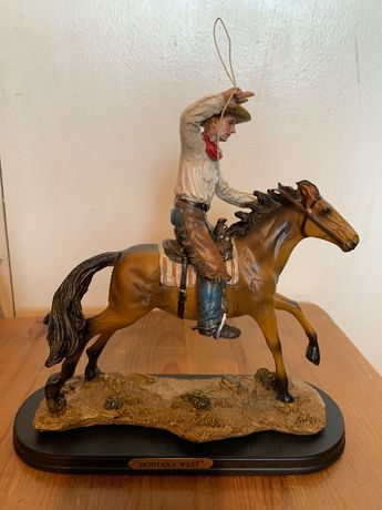 Статуетка Каубой на кон с ласо Уестърн Montana West-Texas,USA