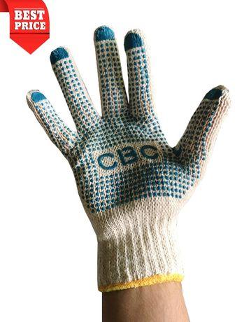 Работни ръкавици,плетени, безшевни с ластичен маншет Л,М,ХЛ