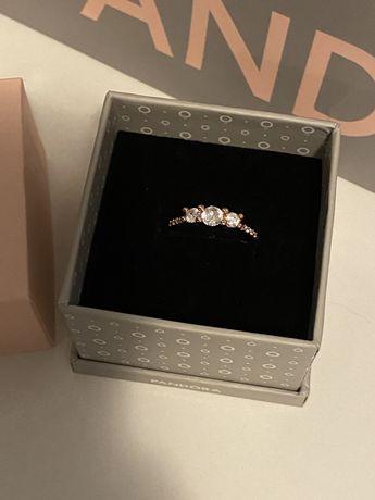 Inel rose argint s925, model tip Pandora