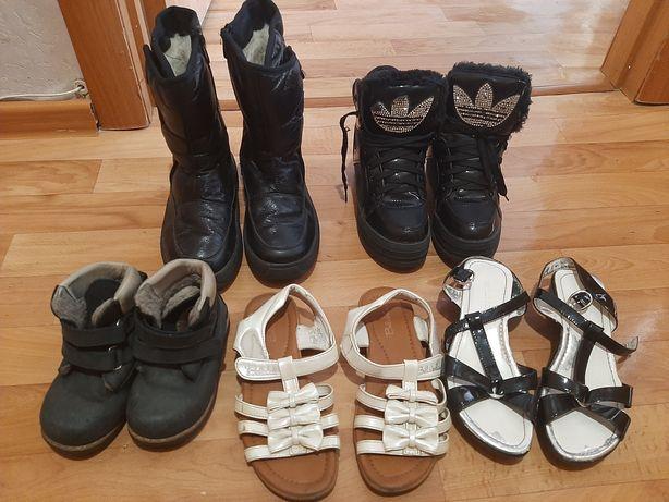 Отдам обувь на девочку размер 34-35