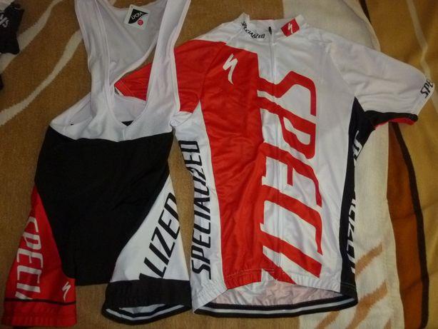 Echipament ciclism specialized rosu set pantaloni tricou