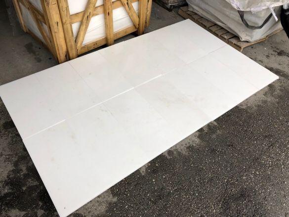 Снежно бял мрамор Тасос 60/30/2 см