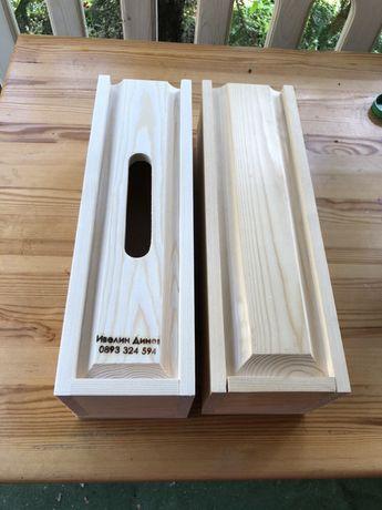 Дървени кутии за вино