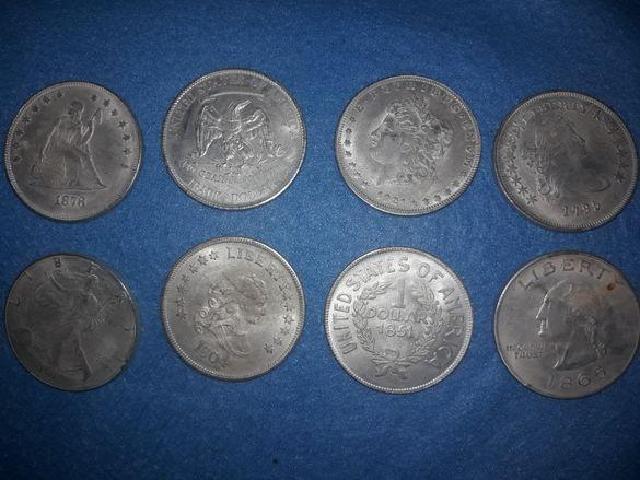 Стари запазени монетни и чинии за микровълнова фурна