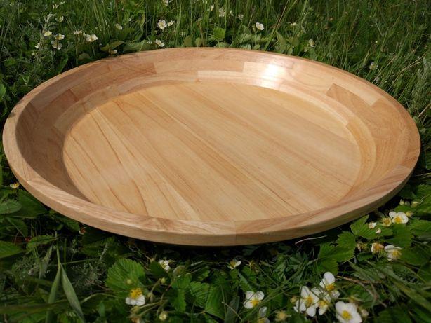Фабричный Астау из древесины Гевеи. Большая круглая форма. Доставка
