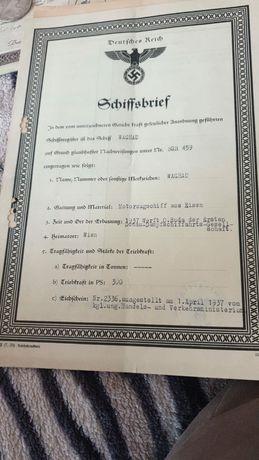 Vând document nazist cu svastica