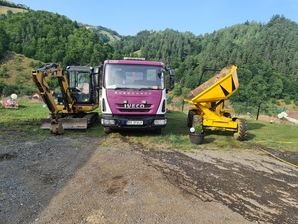 Ofer transport 7.5 tone execut lucrari cu excavator de 3.5 tone