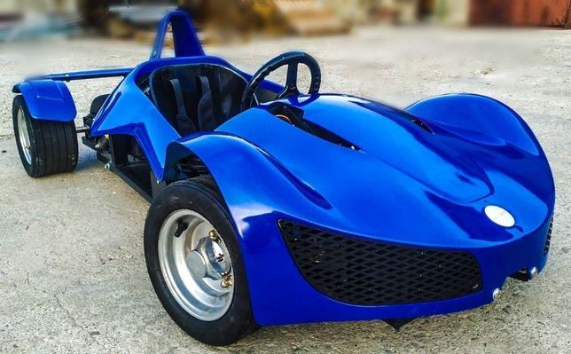 Masinuta-KART electric pentru copii RAZER GT echipat CU ROTI MOI #Blue
