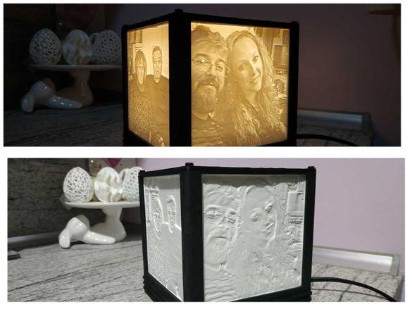 Нощна лампа, изработена на 3Д принтер.