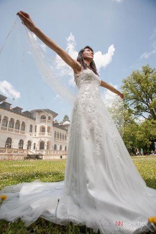 Дизайнерска сватбена булчинска рокля Madeline Gardner New York