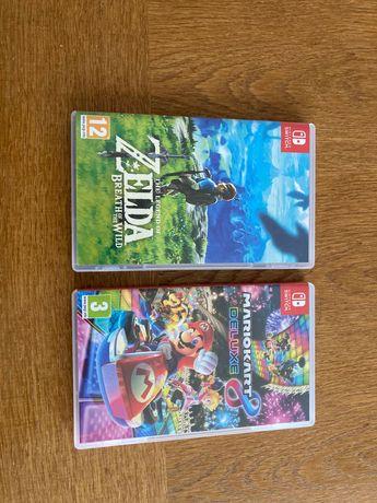 Nintendo Switch si jocurile Zelda Breath of the Wild si Mario Kart