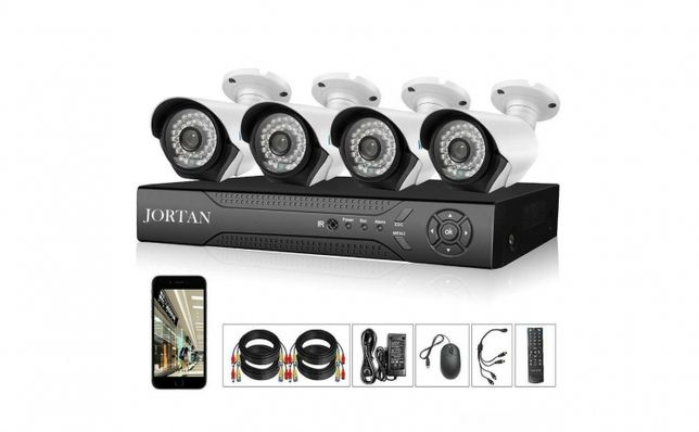 Sistem supraveghere 2Mpx 4Camere + HDD 500GB FUllHD IR 40M Color