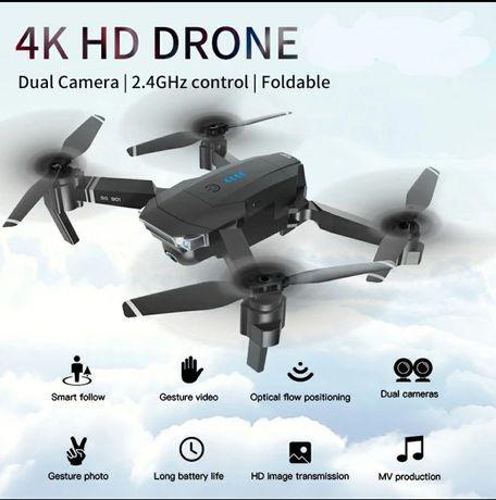 Drona 4K cu 2 camere Telecomandă cu lcd,gesture,follow me,zbor 18 min