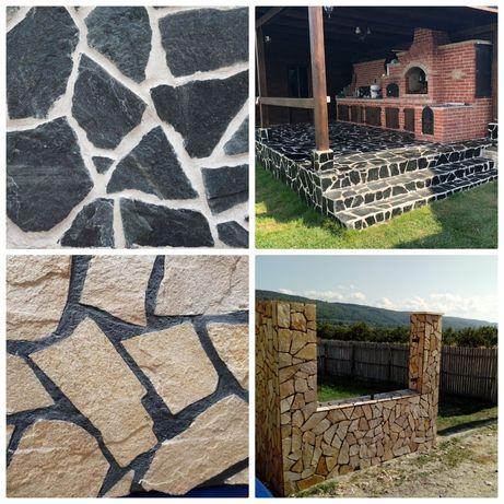 Piatra naturala travertin scapitat piatra alba curte placat pavat