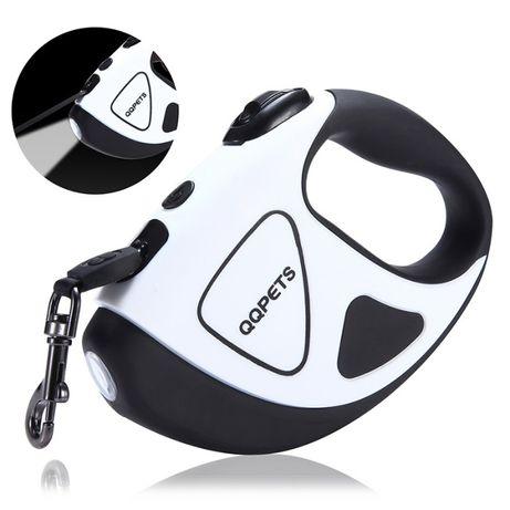 Автоматичен повод за куче 20/50 кг с вграден LED фенер, 1 г. гаранция