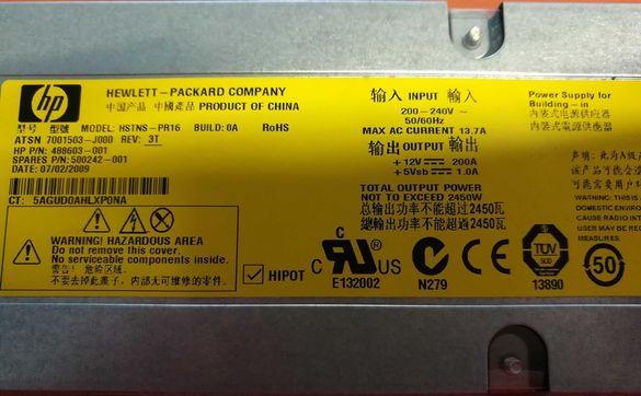 Сървърно захранване HP 2450W Fac. Refurbished Gold Nvidia RTX