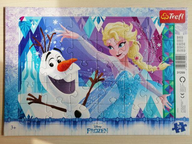 Puzzle cu rama Disney Frozen Elsa 30 piese - Trefl