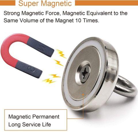 90кг. МАГНИТ с халка (кука) D48mm Magnet fishing магнит шишинг,риболов