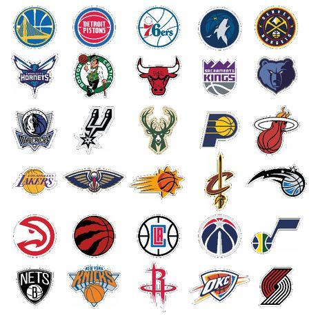 Стикери НБА NBA емблеми лога - 30 бр. общо Sticker