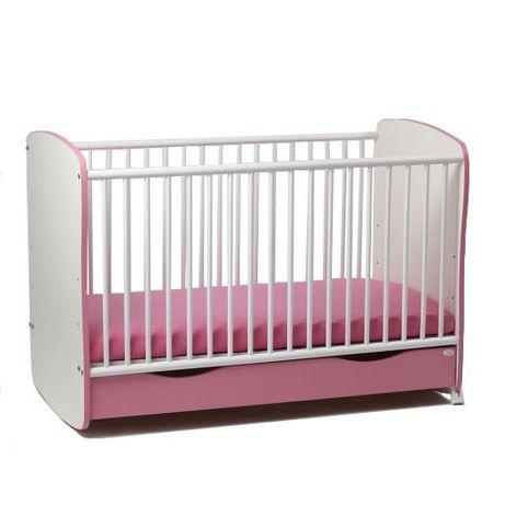 Pătuț roz copii cu saltea