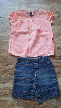 5-6год./116см.Детска дънкова пола и блуза в сет